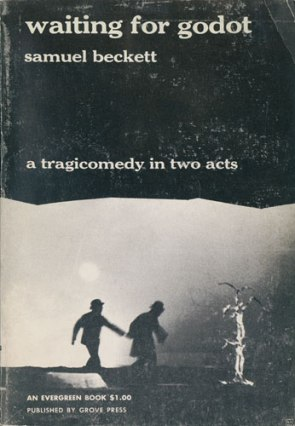 Soft-cover issue of the first edition in English of Waiting for Godot. Tragicomedy in Two Acts (New York: Grove Press [1954]). Original pictorial wrappers on coated stock.