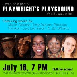 Rebecca Nichloson, Playwrights Playground