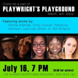 Rebecca Nichloson, Playwrights Playground