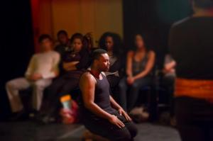Marcel Spears in Hello, I'm Eve by Rebecca Nichloson Columbia University School of the Arts